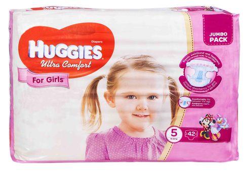 Huggies Ultra Comfort 5 Підгузки для дівчаток 12-22 кг 42 шт