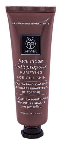 Apivita Маска для обличчя Очищення для жирної шкіри з прополісом 50 мл 1 туба