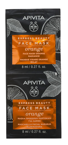 Apivita Express Beauty Маска для оздоровлення шкіри з апельсином 2х8 мл 1 шт