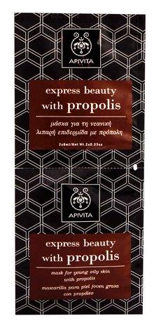 Apivita Express Beauty Маска для молодої жирної шкіри з прополісом 2х8 мл 1 шт