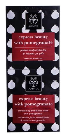Apivita Express Beauty Маска для оздоровлення та сяяння шкіри з гранатом 2х8 мл 1 шт
