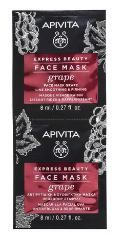 Apivita Express Beauty Маска проти зморшок для пружності шкіри з виноградом 2х8 мл 1 шт
