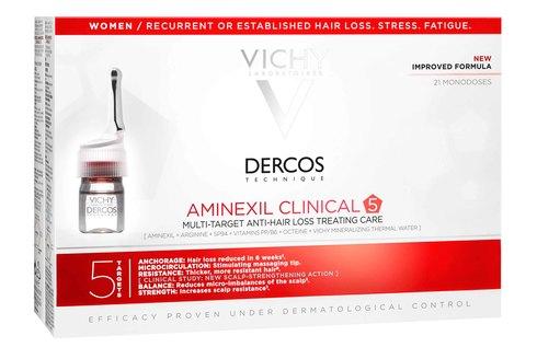 Vichy Dercos Aminexil Clinical 5 Засіб проти випадіння волосся комплексної дії для жінок 21 шт