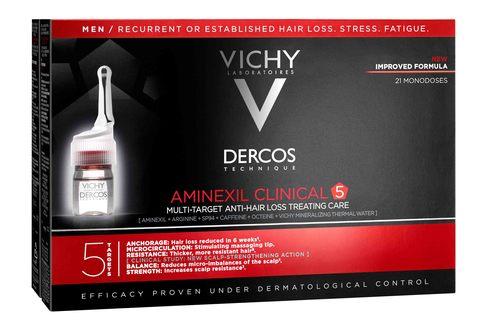 Vichy Dercos Aminexil Clinical 5 Засіб проти випадіння волосся комплексної дії для чоловіків 21 шт
