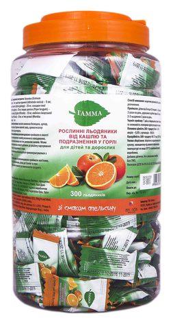 Гамма зі смаком апельсину льодяники 300 шт