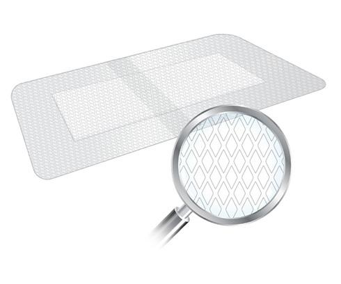 Ю-фікс Пластир хірургічний нетканний з абсорбуючою подушкою 10х10 см 1 шт