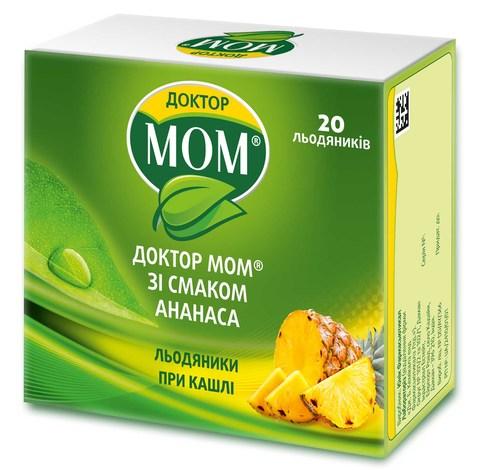 Доктор Мом зі смаком ананасу льодяники 20 шт