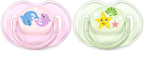 Avent Philips Classic Пустушка для дівчаток 0-6 місяців SCF169/36 2 шт