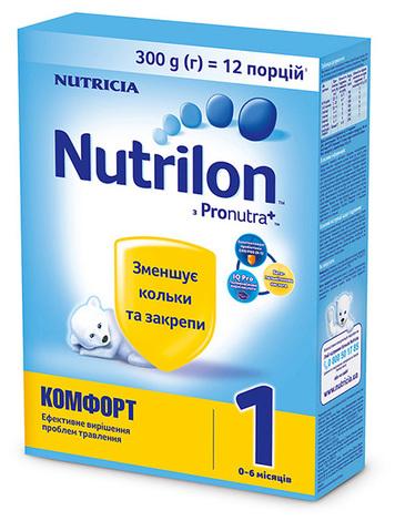 Nutrilon Комфорт 1 Суміш молочна 0-6 місяців 300 г 1 коробка