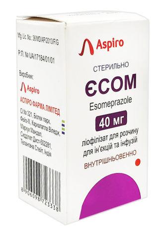 Єсом ліофілізат для розчину для ін'єкцій та інфузій 40 мг 1 флакон