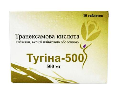 Тугіна-500 таблетки 500 мг 10 шт