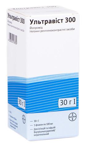 Ультравіст 300 розчин для ін'єкцій та інфузій 300 мг/мл 100 мл 1 флакон