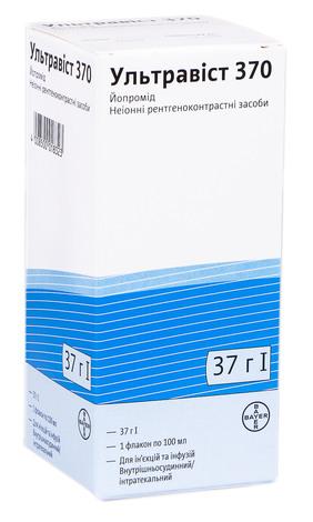 Ультравіст 370 розчин для ін'єкцій та інфузій 370 мг/мл 100 мл 1 флакон