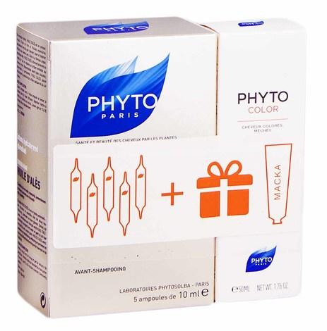 Phyto олійка Алеса 5х10 мл + Phyto Color маска 50 мл 1 набір
