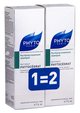 Phyto Phytocedrat Набір Шампунь для жирного волосся Дуо 2х200 мл 200 мл 1 набір