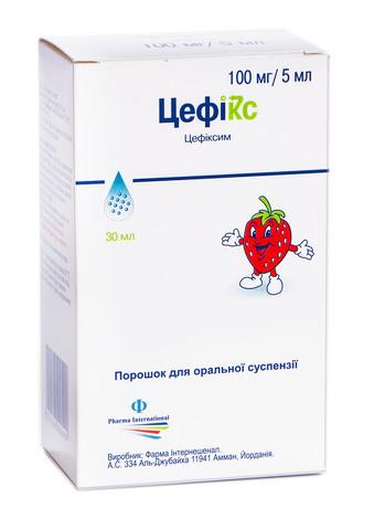 Цефікс порошок для оральної суспензії 100 мг/5 мл  30 мл 1 флакон