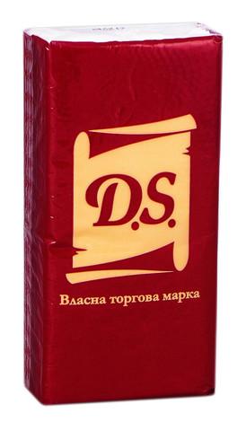 Хустинки паперові D.S. 3-шарові 10х10 шт 10 шт
