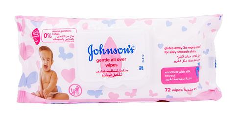 Johnson's Baby Вологі серветки дитячі без аромату Лагідна турбота 72 шт