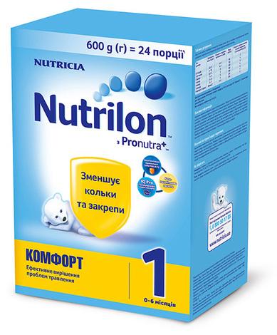 Nutrilon Комфорт 1 Суміш молочна 0-6 місяців 600 г 1 коробка