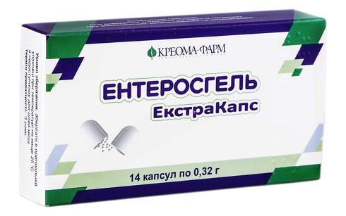 Ентеросгель Екстракапс капсули 0,32 г 14 шт