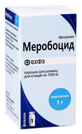 Меробоцид порошок для ін'єкцій 1000 мг 1 флакон