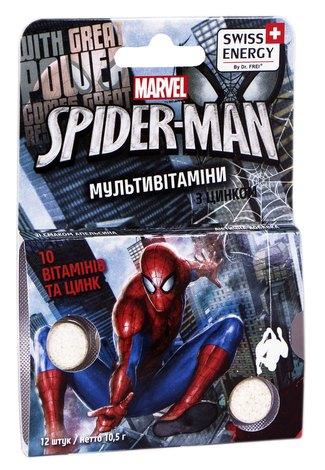 Swiss Energy Мультивітаміни з цинком Spider-Man таблетки жувальні 12 шт