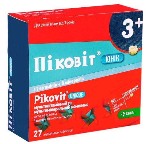 Піковіт Юнік таблетки жувальні 27 шт