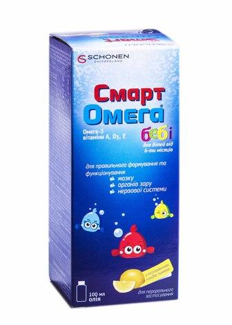 Смарт Омега для дітей олія 100 мл 1 флакон