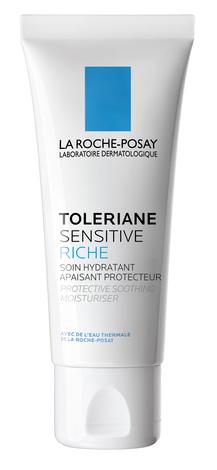 La Roche-Posay Toleriane Sensitive Riche Крем пребіотичний зволожуючий для захисту та заспокоєння сухої чутливої шкіри 40 мл 1 туба