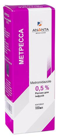 Метресса розчин для інфузій 0,5 % 100 мл 1 контейнер