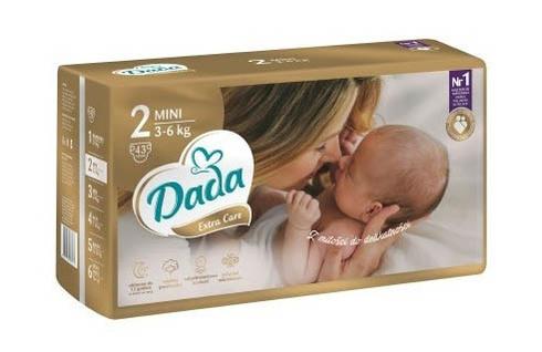 Dada Extra Care 2 Підгузки дитячі 3-6 кг 43 шт