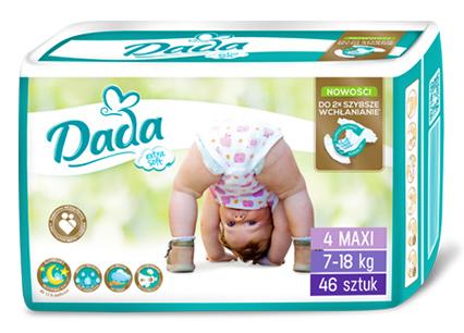 Dada Extra Soft 4 Maxi Підгузки дитячі 7-18 кг 46 шт