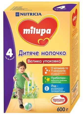 Milupa 4 Дитяче молочко від 18 місяців 600 г 1 коробка