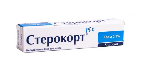 Стерокорт крем 0,1 % 15 г 1 туба