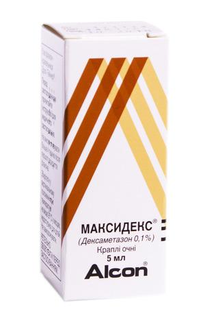 Максидекс краплі очні 0,1 % 5 мл 1 флакон