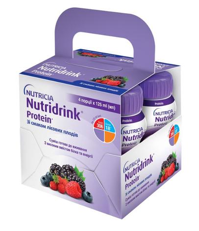 Нутрідрінк Протеїн зі смаком лісових плодів 125 мл 4 пляшки