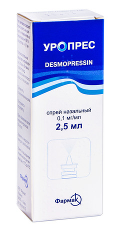 Уропрес спрей назальний 0,1 мг/мл 2,5 мл 1 флакон