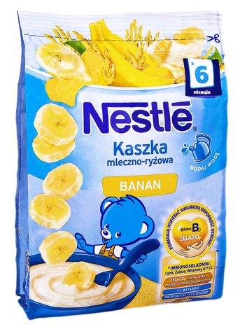 Nestle Каша молочна рисова з бананом і біфідобактеріями вітамінізована з 6 місяців 230 г 1 пакет