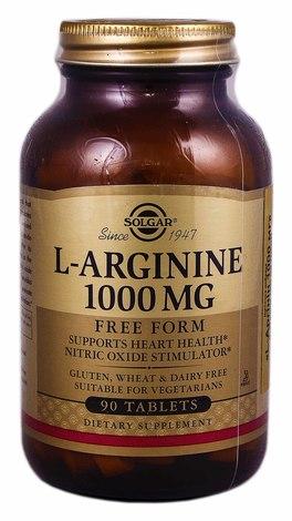 Solgar L-Аргінін таблетки 1000 мг 90 шт