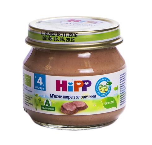Hipp Пюре м'ясне з яловичини з 4 місяців 80 г 1 банка