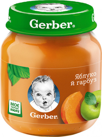 Gerber Пюре Яблуко й гарбуз від 6 місяців 130 г 1 банка