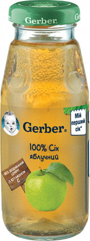 Gerber Сік яблучний з 6 місяців 175 мл 1 банка