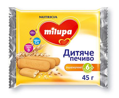Milupa Печиво дитяче пшеничне з 6 місяців 45 г 1 пакет