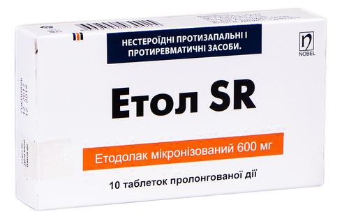 Етол SR  Табл. пролонг. 600 мг н 10