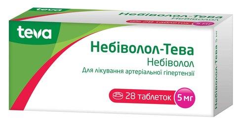 Небіволол Тева таблетки 5 мг 28 шт