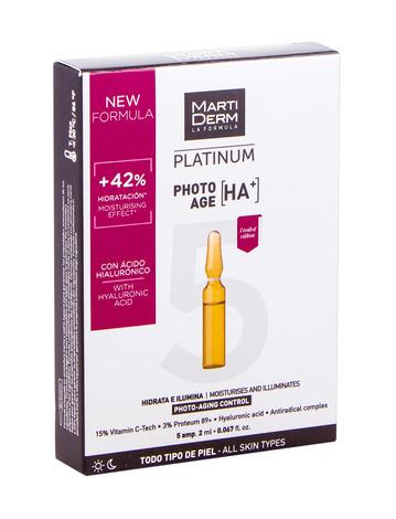 MartiDerm Platinum Фото-Ейдж На+ ампули контроль фотостаріння для всіх типів шкіри 2 мл 5 ампул