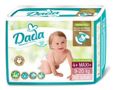 Dada Extra Soft 4+ Maxi+ Підгузки дитячі 9-20 кг 42 шт