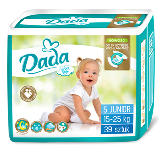 Dada Extra Soft 5 Junior Підгузки дитячі 15-25 кг 39 шт
