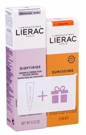 Lierac Dioptipoche крем 15 мл + засіб 10 мл 1 набір