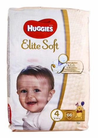 Huggies Elite Soft 4 Підгузки дитячі 8-14 кг 66 шт